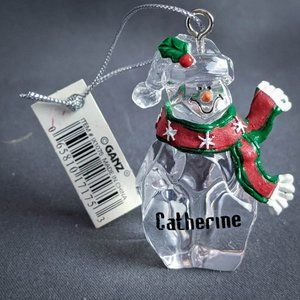 Catherine Christmas Ornament Clear Snowman